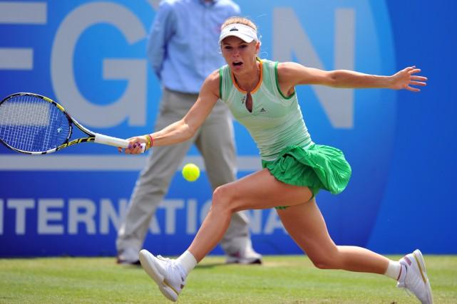 Caroline Wozniacki a défait Camila Giorgi 6-7 (7),... (Photo Glyn Kirk, AFP)