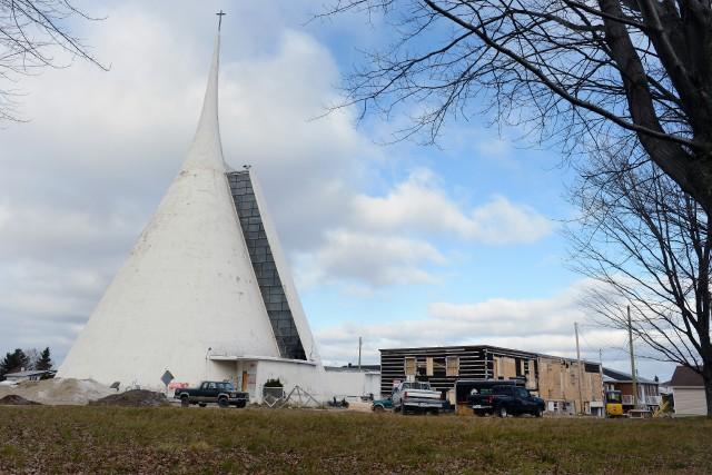 L'ex-église Notre-Dame de Fatima n'échappera pas au pic... ((Archives))