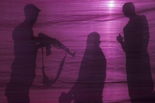 Des soldats israéliens et des manifestants palestiniens se sont affrontés lors... (Photo AFP)