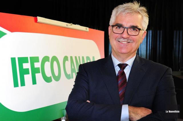 Le chef de la direction d'IFFCO Canada, Claude... (Photo: Andréanne Lemire, Le Nouvelliste)
