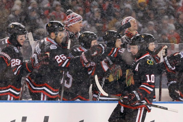 Les Blackhawks de Chicago disputeront leur troisième match... (Photo Charles Rex Arbogast, AP)