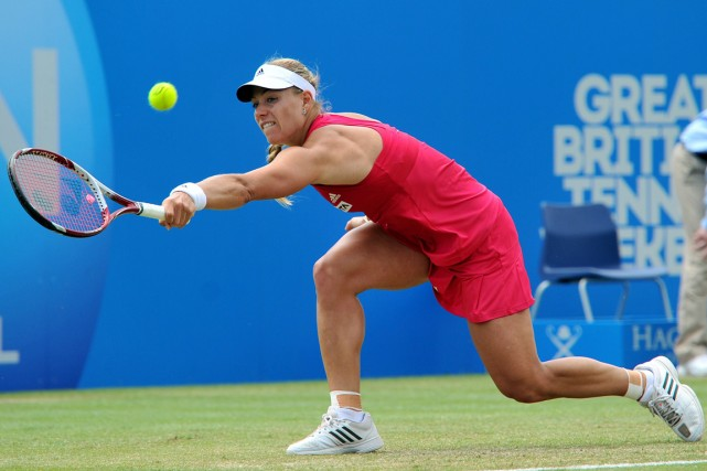 Angelique Kerber a défait Caroline Wozniacki en trois... (Photo Glen Kirk, AFP)