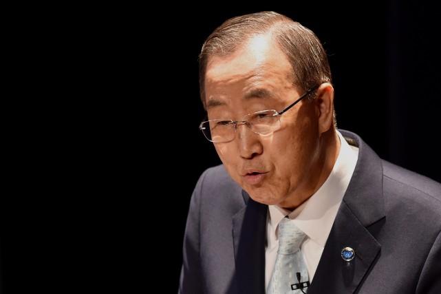 Le secrétaire général de l'ONU, Ban Ki-moon... (Photo Stan HONDA, AFP)