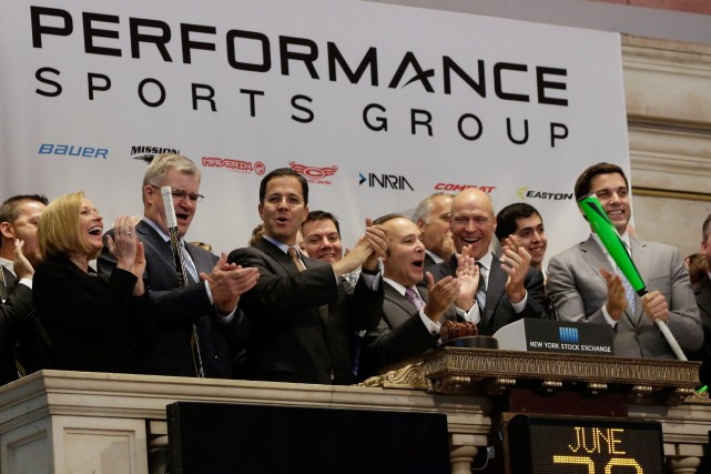 La toute première séance de Performance Sports Group... (Photo Richard Drew, AP)