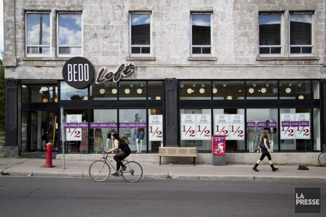 La boutique Bedo sur le boulevard Saint-Laurent, près... (PHOTO SIMON GIROUX, ARCHIVES LA PRESSE)