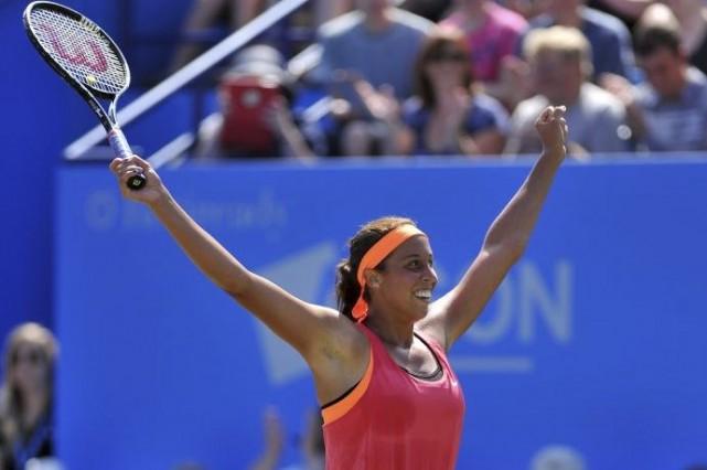 Madison Keys... (PHOTO GLYN KIRK, AFP)