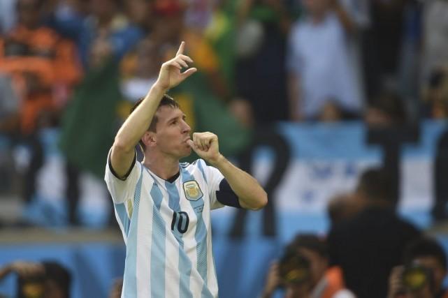 Lionel Messi... (PHOTO PEDRO UGARTE, AFP)