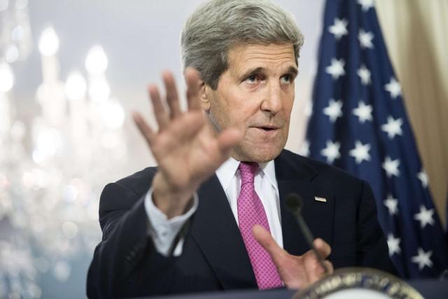 Le secrétaire d'État des États-Unis, John Kerry... (Photo Brendan SMIALOWSKI, AFP)