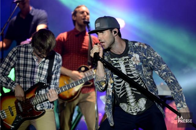 Le chanteur de Maroon 5, Adam Levinem, était... (PHOTO BERNARD BRAULT, ARCHIVES LA PRESSE)