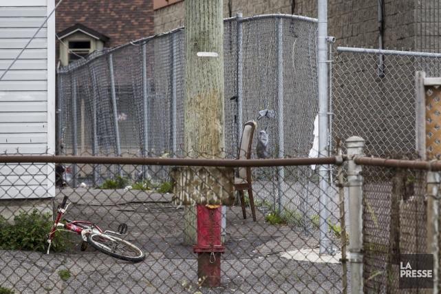 Dans le quartier, les gens évitent une ruelle... (PHOTO OLIVIER PONTBRIAND, LA PRESSE)