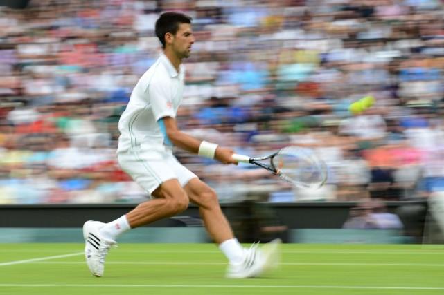 Novak Djokovic n'a pas disputé de tournoi préparatoire... (Photo Leon Neal, archives Agence France-Presse)