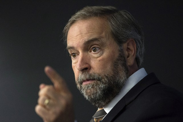 Le chef du NPD, Thomas Mulcair.... (archives La Presse Canadienne)