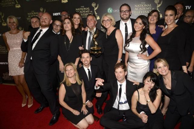 L'équipe de The Ellen DeGeneres Show... (PHOTO PHIL MCCARTEN, REUTERS)