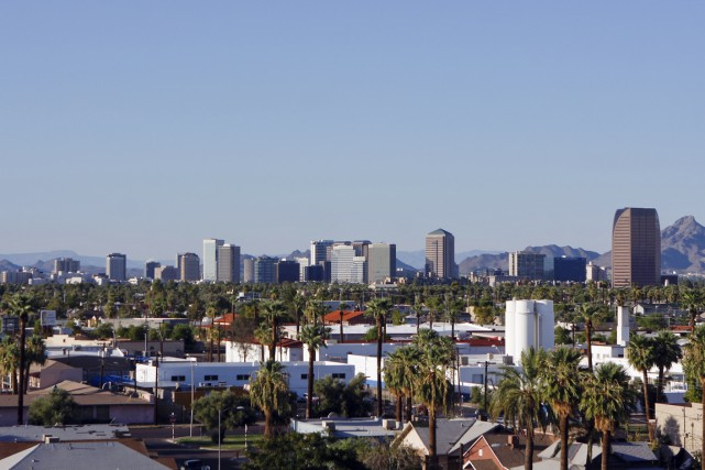 Phoenix, en Arizona, arrive au premier rang en... (Photo Joshua Lott, archives Bloomberg)