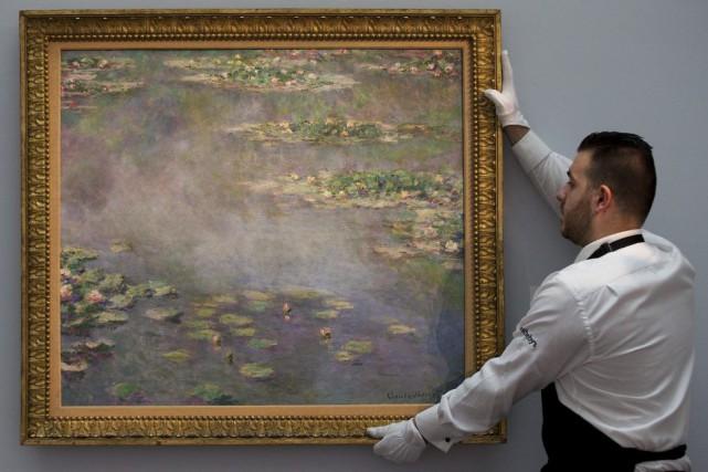 Le tableau peint par Monet en 1906 était... (Photo AFP)