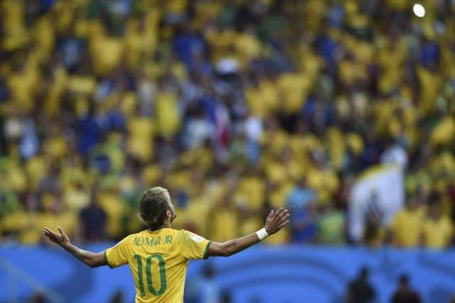 Neymar a encore été décisif dans cette rencontre.... (Photo AFP)