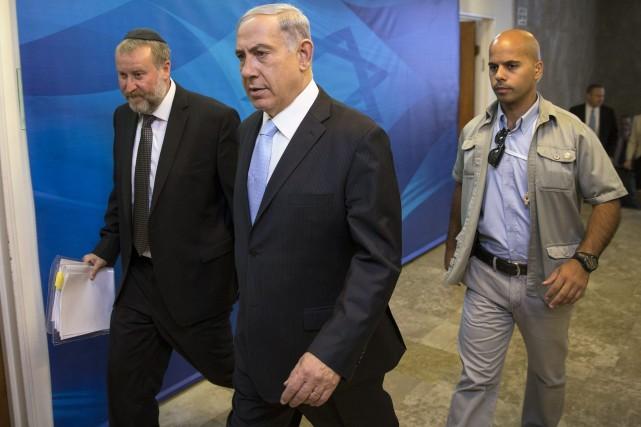 Le premier ministre israélien Benjamin Nétanyahou a pressé... (Photo Majdi Mohammed, Associated Press)