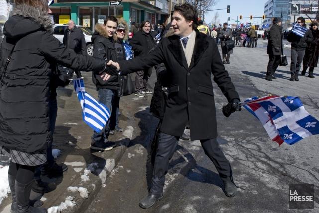 En mars dernier, Justin Trudeau a profité du... (Photo Robert Skinner, archives La Presse)