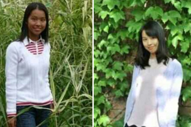 Le montage photo posté par Lin Li sur...