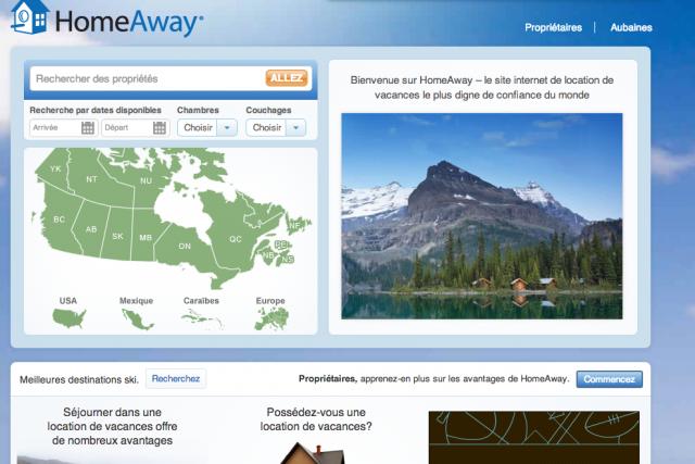 HomeAway est spécialisé dans la location de maisons... (Tirée du site Internet HomeAway)