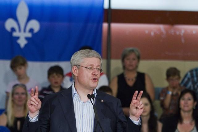 Stephen Harper, premier ministre canadien, estime que le... (Photo Clément Allard, La Presse Canadienne)
