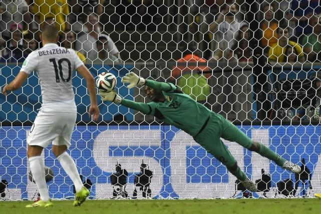 Le gardien équatorien a dû faire face à... (Photo AFP)