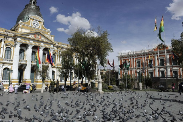 Le parlement bolivien... (Photo JORGE BERNAL, AFP)