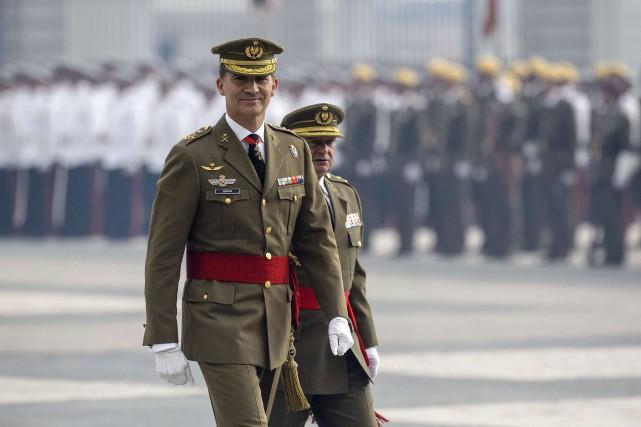 En Catalogne, Felipe se retrouve sur une terre... (Photo DANI POZO, AFP)