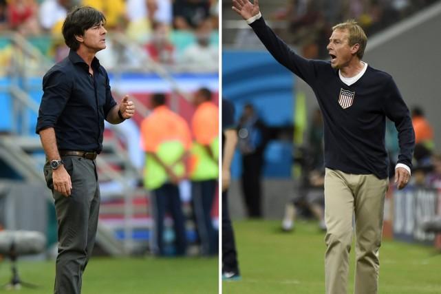À la barre des États-Unis, Jürgen Klinsmann (à... (Photos AFP)