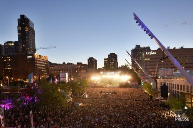 L'événement d'ouverture extérieur du Festival de jazzsera animé... (Photo Bernard Brault, Archives La Presse)