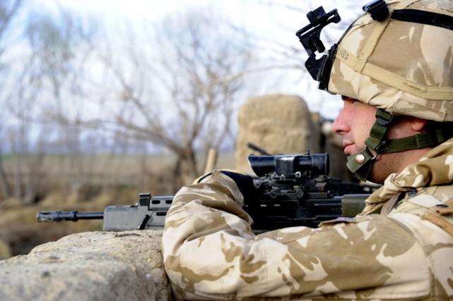 Selon le ministère britannique de l'Intérieur, 22000 soldats... (PHOTO MARK JONES, ARCHIVES AP)