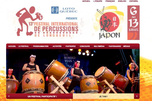L'organisation du Festival international de percussions de Longueuil espère... (Image tirée du site internet)
