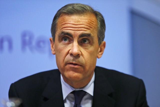Le gouverneur de la Banque d'Angleterre, Mark Carney... (Photo Lefteris Pitarakis, AFP)