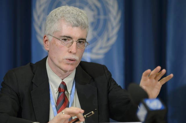Maxx Dilley,directeurdes prévisions climatiquesà l'Organisation météorologique mondiale, pendant... (Photo Martial Trezzini, Associated Press)