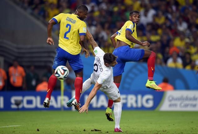 La rencontre France-Équateur (0-0) a enregistré mercredi le record des paris en... (PHOTO ODD ANDERSEN, AFP)