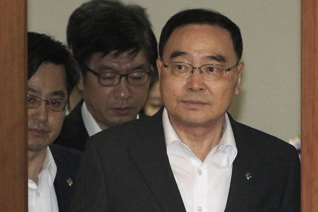 Chung Hong-Won avait démissionné 10 jours après le... (Photo Ahn Young-joon, Associated Press)