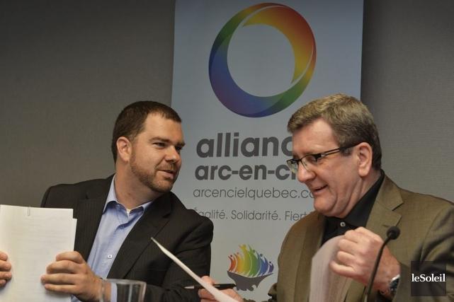 Le directeur général de l'organisme Alliance Arc-en-ciel, Olivier... (Le Soleil, Patrice Laroche)
