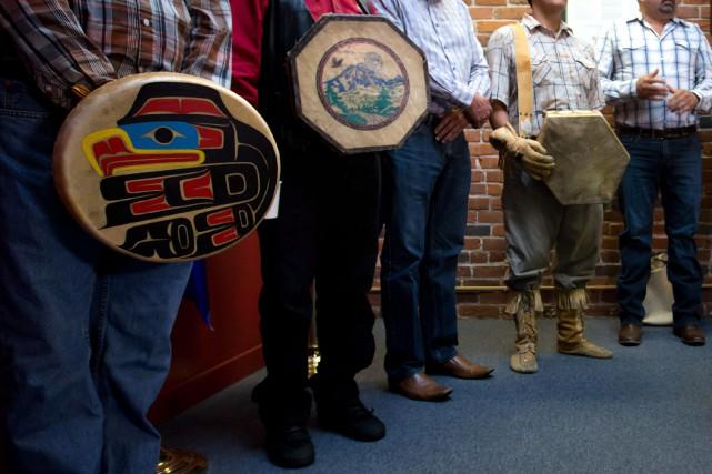 La Première Nation Tsilhqot'in, dont le territoire se... (Photo DARRYL DYCK, PC)