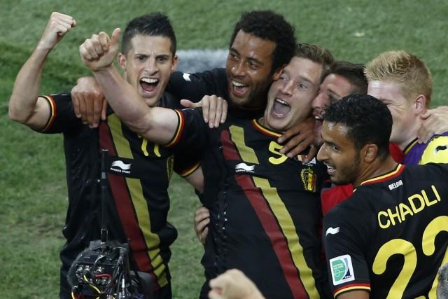 La Belgique, déjà qualifiée pour les 8e de... (PHOTO PAULO WHITAKER, REUTERS)