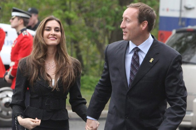 Nazanin Afshin-Jam MacKay et Peter MacKay... (Photo FRED CHARTRAND, Archives PC)