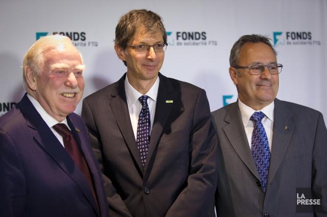 Robert Parizeau, président du conseil d'administration du Fonds... (Photo André Pichette, La Presse)