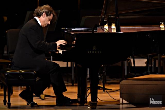 Comme pianiste, Alain Lefèvre est à son avantage... (Photo Bernard Brault, La Presse)