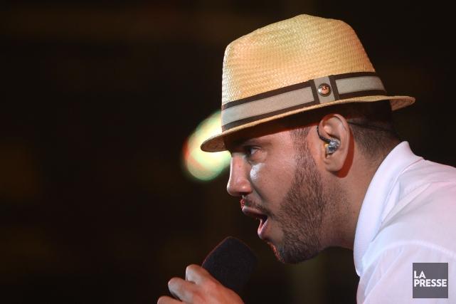 Le chanteur Hip-Hop Boogat... (Photo Bernard Brault, La Presse)
