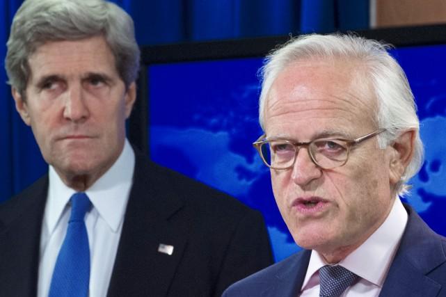L'émissaire des États-Unis au Proche-Orient, Martin Indyk (à... (PHOTO PAUL J. RICHARDS, ARCHIVES AFP)