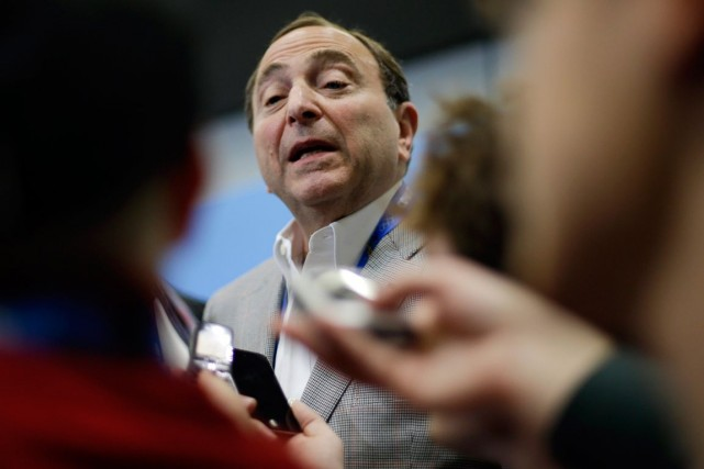 Le commissaire de la LNH, Gary Bettman.... (PHOTO ARCHIVES ASSOCIATED PRESS)