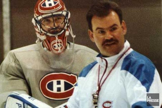 Pat Burns en compagnie de son gardien Patrick... (Photo d'archives La Presse)