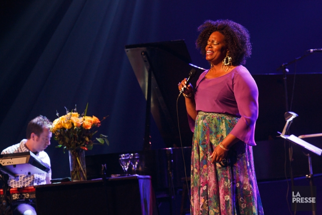 Dianne Reeves a démontré hier soir sa grande... (Photo Frédérique Ménard-Aubin, Festival International de Jazz de Montréal)