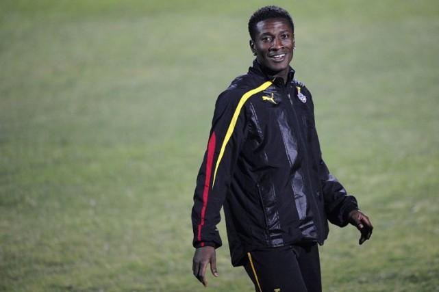 Le capitaine du Ghana, Asamoah Gyan.... (Photo: AFP)