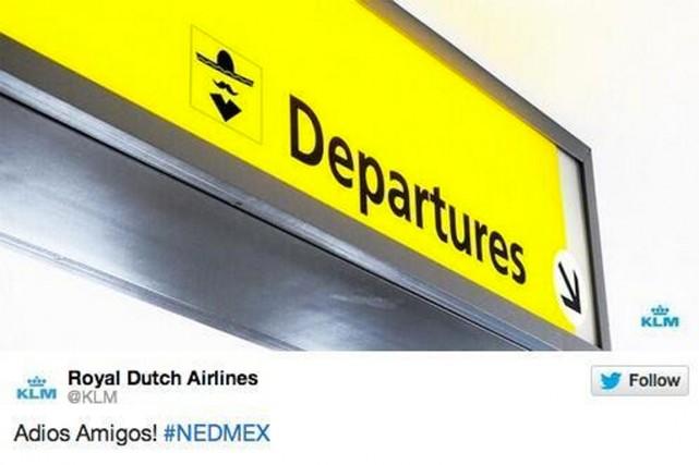 La compagnie aérienne a dû effacer son tweet... (IMAGE TIRÉE DE TWITTER)