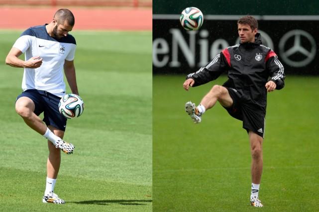 Karim Benzema et Thomas Müller, buteurs prolifiques pour... (Photos AFP et Reuters)